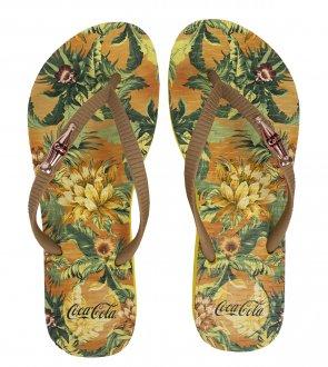 Imagem - Chinelo Coca Cola Jungle Floral  Feminino cód: 058950