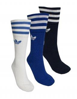 Imagem - Meia Cano Alto Adidas 3 Pack Solid Crew Sock  cód: 054340