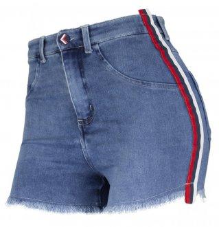 Imagem - Shorts Alto Giro Jeans Zouk Blue Hot Pant Feminino cód: 049328