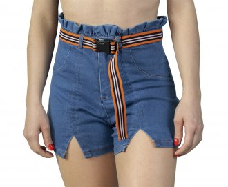 Imagem - Shorts Jeans Alto Giro Zouk Blue Feminino cód: 052047
