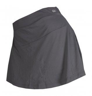 Imagem - Shorts Saia Alto Giro Skin Fit Recorte Diagonal Feminino cód: 055401