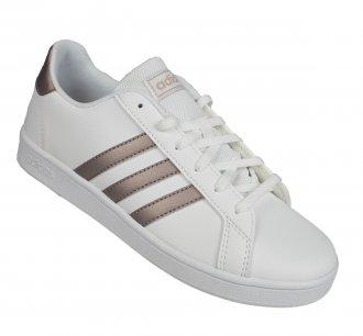 Imagem - Tênis Casual Adidas Grand Court K Infantil  cód: 055155