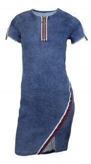Imagem - Vestido Alto Giro Jeans Zouk Blue cód: 049281