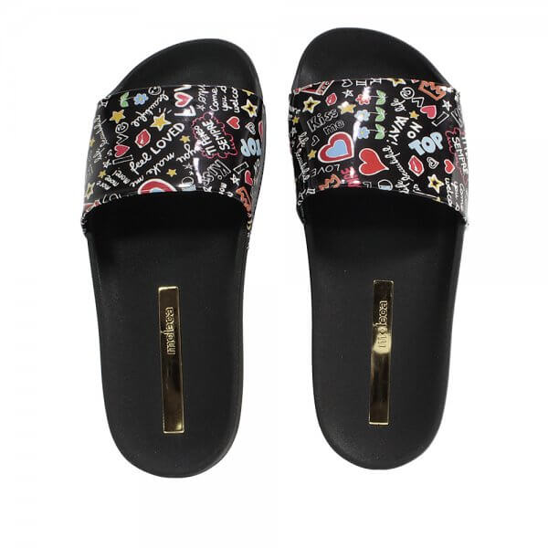 Chinelo Slide Moleca Escritas Love