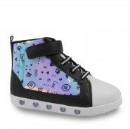 Imagem - Tênis Abotinado Infantil Pampili 165163 Sneaker Luz Menina