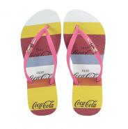 Imagem - Chinelo de Dedo Coca Cola CC3235 Listras Feminino
