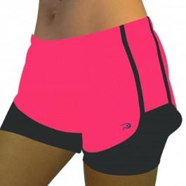 Imagem - Placar Shorts Com Bermuda Okayama Rosa Preto