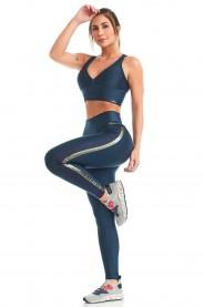 Imagem - Caju Brasil Legging Atletika Loved Azul