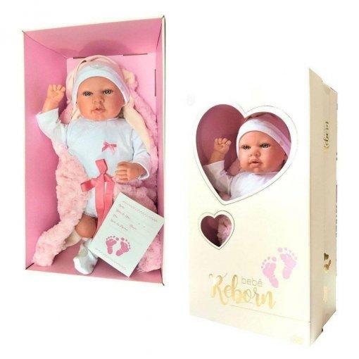 Bebê Reborn Rosa Olho Aberto