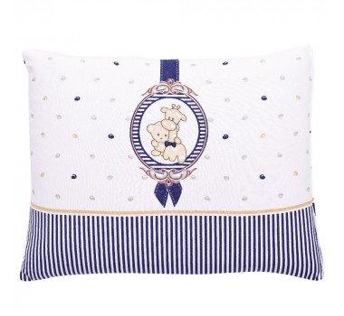 Travesseiro Colibri Bordado Camafeu Azul