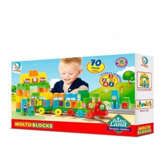Imagem - Bloco de Montar Baby Land - Trenzinho Didático - Cardoso Toys cód: F63844