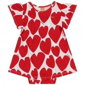 Imagem - Body Vestido para bebê Corações - Up Baby cód: 44817