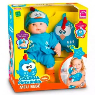 Imagem - Boneca Meu Bebê Galinha Pintadinha cód: P53694