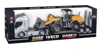 Imagem - Carreta Iveco Hi-way Plataforma Pá Carregadeira Case - Usual Brinquedos cód: F62209