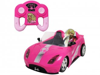 Imagem - Carrinho de Controle Remoto Barbie Deluxe - 7 Funções Candide  cód: F64419