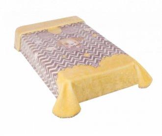 Imagem - Cobertor Le Petit Cachorrinho Amarelo cód: 42582