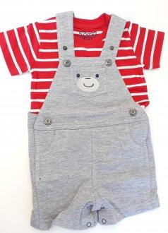Imagem - Conjunto Camiseta e Jardineira cód: P1733