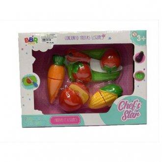 Imagem - Conjunto Frutas e Legumes - BBR Toys cód: F63911