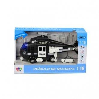 Imagem - Helicóptero de Resgate de Polícia - Com Luz e Som - BBR Toys cód: F63916