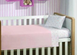 Imagem - Jogo de Cama Bebê Mini Menina 3 Peças Malha Lepper cód: 43068