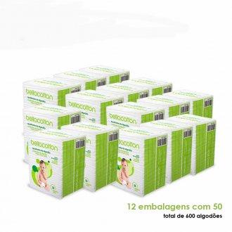 Imagem - Kit com 12 pacotes de Algodão Quadrado Maxi bebê Bellacotton  cód: P9689