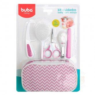 Imagem - Kit Cuidados Baby Buba com Estojo Rosa cód: P36272