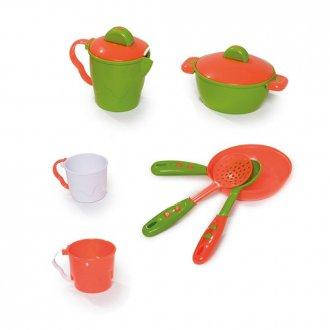 Imagem - Kit De Cozinha Completo Laranja/verde - Calesita cód: F45848