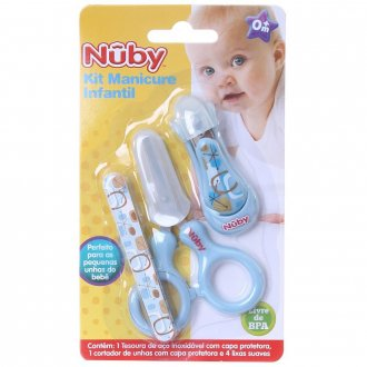 Imagem - kit Manicure Cajovil Nuby  Azul cód: P7155