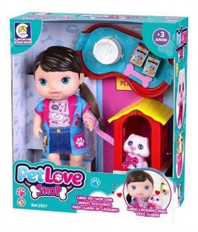 Imagem - Boneca Pet Shop Love Cotiplás cód: F62291