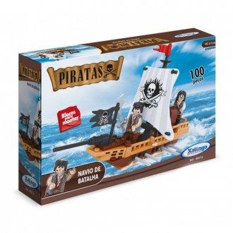 Imagem - Blocos para Montar Piratas Navio de Batalhas cód: P50413
