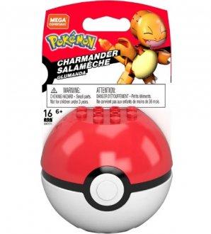 Imagem - Pokebola Pokémon Squirtle - Mega Construx 16 Peças Mattel cód: F59273