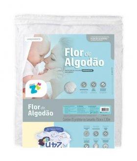 Imagem - Protetor de Colchão para Berço Flor de Algodão 70x130cm Fibrasca cód: 42897