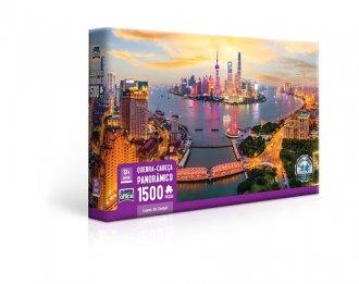 Imagem - Quebra-cabeça 1500 Peças Luzes de Xangai  cód: F59715