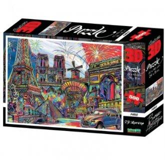 Imagem - Quebra Cabeça Paris 3D 500 peças. cód: F57909