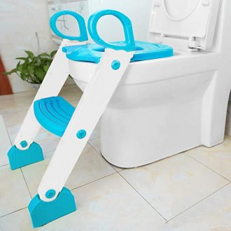 Imagem - Redutor De Assento Com Escada Azul KaBaby cód: 44222