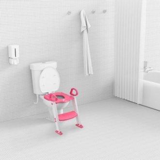 Imagem - Redutor De Assento Com Escada Rosa KaBaby cód: 44223