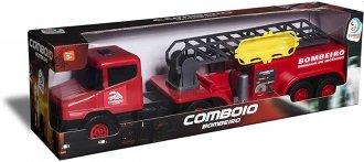 Imagem - Car Comboio Bombeiro - Cardoso Toys cód: F42155