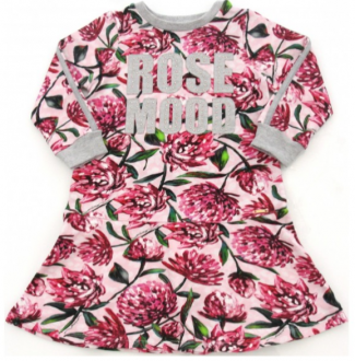Imagem - Vestido Animê Molecotton Rosas cód: P1075