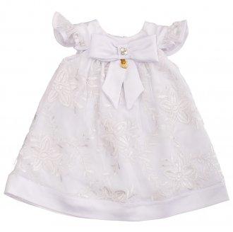 Imagem - Vestido Festa Branco Gira Baby cód: P1091