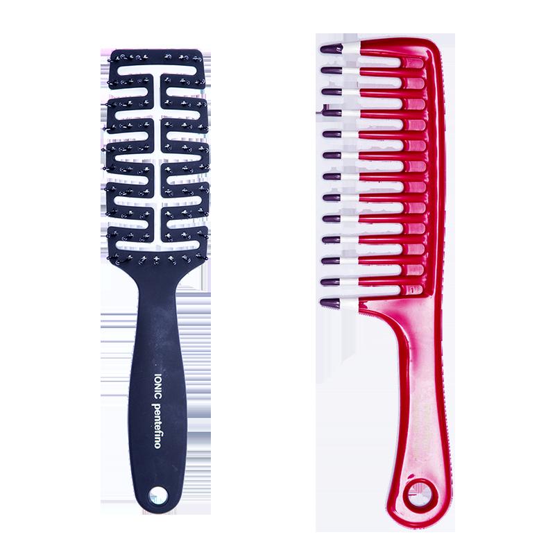 ce7699014 Compre os itens separadamente clicando no nome  escova flex e pente com  dentes largos