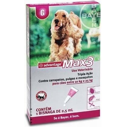 Advantage MAX 3 G Para Cães Entre 10kg e 25kg