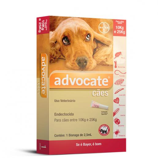 Advocate Bayer para Cães de 10 a 25kg