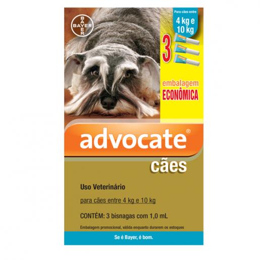 Advocate Combo Leve 3 Pague 2 Para Cães Entre 4kg e 10kg