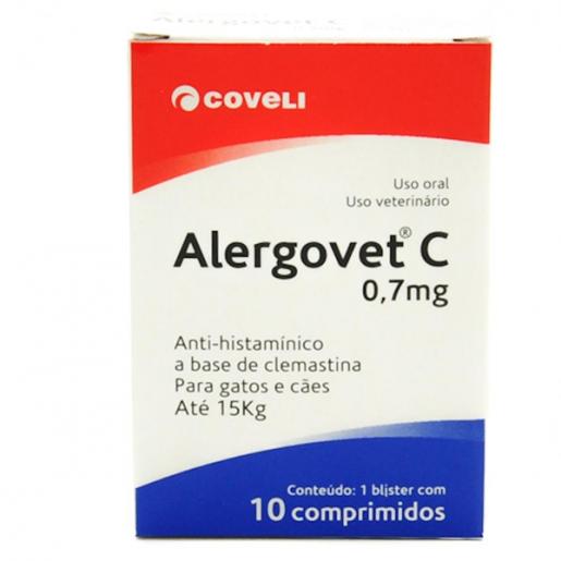 Alergovet C 0,7mg - 10 comprimidos