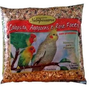 Alimento Ração Para Calopsita Agapornis e Rose Faces 500g