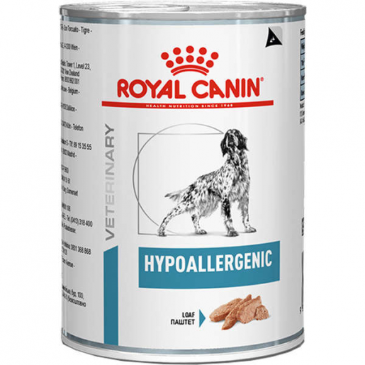 Alimento Úmido Lata Royal Canin Hypoallergenic Cachorros 400g