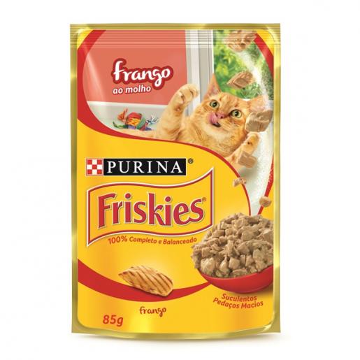 Alimento Úmido Para Gatos em Sachê Friskies Frango ao Molho 85g