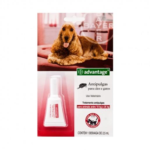 Antipulgas Advantage Cães de 10 a 25kg - 2,5ml