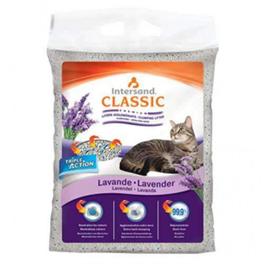 Areia Granulado Sanitário Intersand Classic Premium Lavanda 15kg