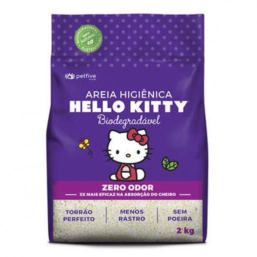 Areia Sanitária da Hello Kitty Bio Grossa 2kg